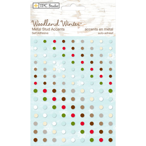 Colorbok - TPC Studio - Woodland Winter Collection - Self Adhesive Metal Studs