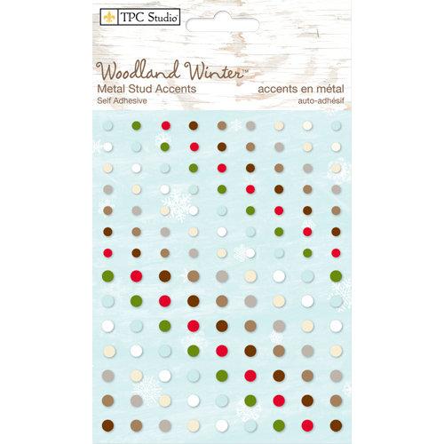 Colorbok - TPC Studio - Woodland Winter Collection - Self Adhesive Metal Studs