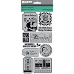 Colorbok - TPC Studio - Retro Christmas Collection - Cling Mounted Rubber Stamps