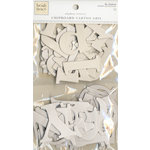 Colorbok - Heidi Grace Designs - Tweet Memories Collection - Die Cut Chipboard Pieces - Alphabet