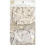 Colorbok - Heidi Grace Designs - Tweet Memories Collection - Die Cut Chipboard Pieces - Alphabet