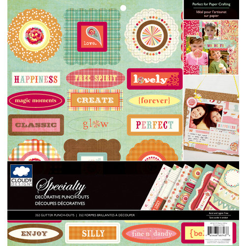 Colorbok - Cloud 9 Design - Fiesta Collection - 12 x 12 Punch Out Pad with Glitter Accents - Die Cuts