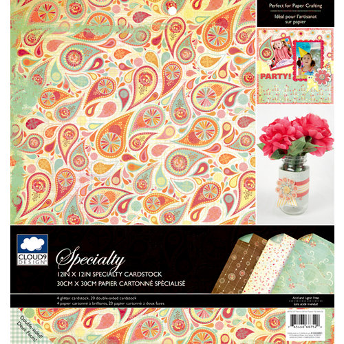 Colorbok - Cloud 9 Design - Fiesta Collection - 12 x 12 Specialty Paper Pad - Glitter