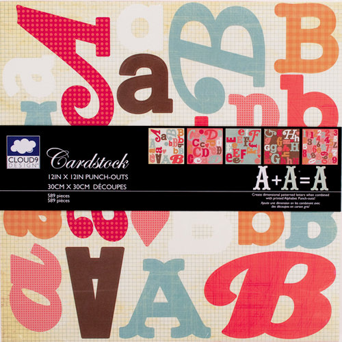 Colorbok - Cloud 9 Design - Fiesta Collection - 12 x 12 Punch Outs - Die Cuts - Alphabet