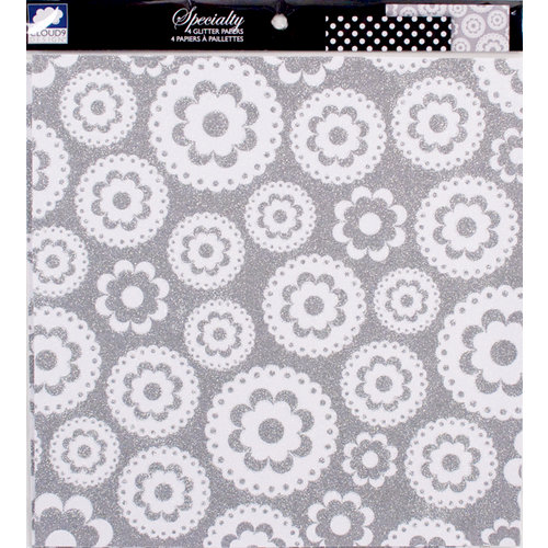 Colorbok - Cloud 9 Design - Nightshade Collection - 12 x 12 Glitter Paper Pack