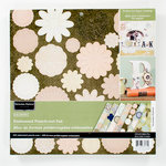 Colorbok - Victorian Parlour Collection - 12 x 12 Embossed Punch Out Pad - Flowers
