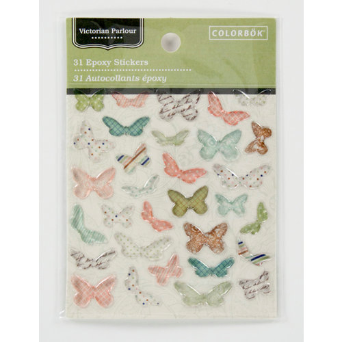 Colorbok - Victorian Parlour Collection - Epoxy Stickers - Butterflies
