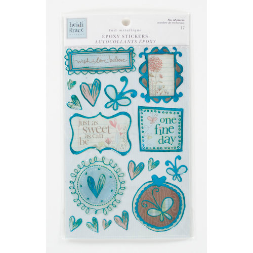 Colorbok - Heidi Grace Designs - Daydream Collection - Epoxy Stickers with Foil Accents