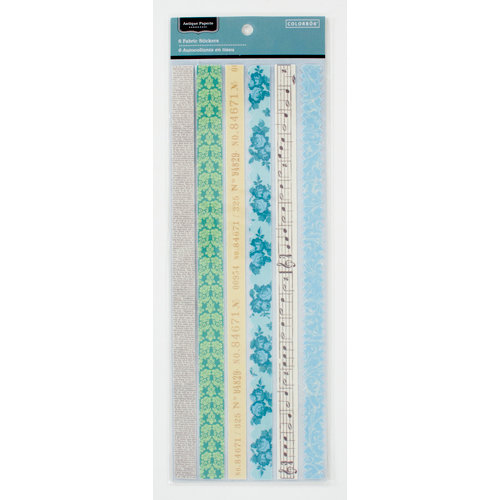Colorbok - Antique Paperie Collection - Fabric Stickers - Border