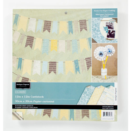 Colorbok - Antique Paperie Collection - 12 x 12 Paper Pad