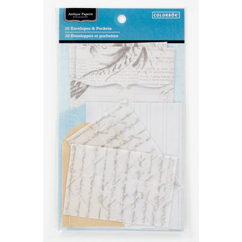 Colorbok - Antique Paperie Collection - Envelopes and Pockets
