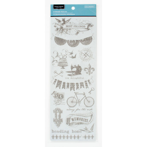 Colorbok - Antique Paperie Collection - Metallic Rub Ons