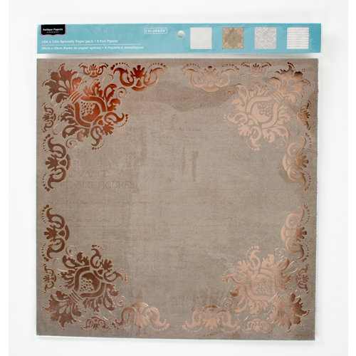Colorbok - Antique Paperie Collection - 12 x 12 Foil Paper Pack