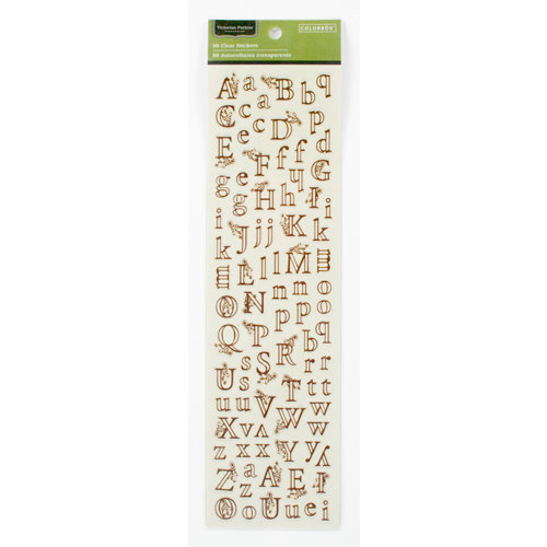 Colorbok - Victorian Parlour Collection - Clear Stickers - Alphabet