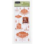Colorbok - Victorian Parlour Collection - Clear Foil Stickers with Gem Accents