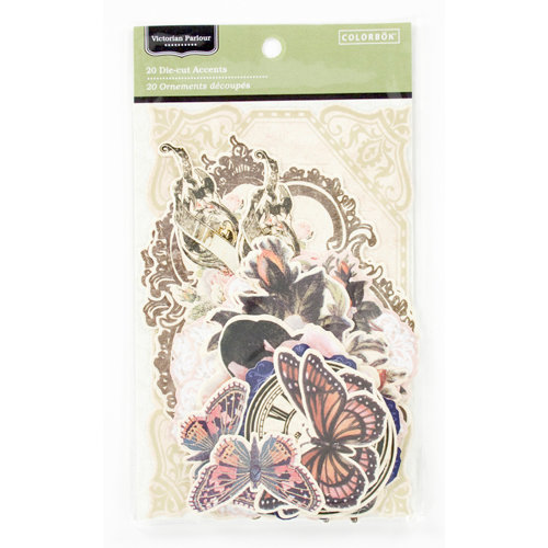 Colorbok - Victorian Parlour Collection - Die Cut Cardstock Pieces - Journaling Accents