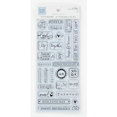 Colorbok - Heidi Grace Designs - Daydream Collection - Epoxy Stickers - Words