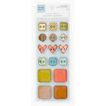 Colorbok - Heidi Grace Designs - Daydream Collection - Die Cut Chipboard Stickers with Epoxy and Foil Accents - Buttons