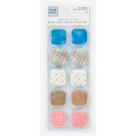 Colorbok - Heidi Grace Designs - Daydream Collection - 3 Dimensional Stickers - Square Fabric Buttons