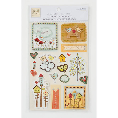 Colorbok - Heidi Grace Designs - Tweet Memories Collection - Layered Stickers with Gem and Glitter Accents