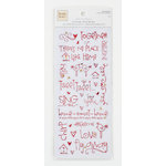 Colorbok - Heidi Grace Designs - Tweet Memories Collection - Clear Foil Stickers with Gem Accents