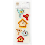 Colorbok - Heidi Grace Designs - Tweet Memories Collection - Puffy Fabric Stickers with Gem Accents