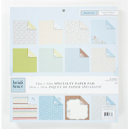 Colorbok - Heidi Grace Designs - Daydream Collection - 12 x 12 Gloss Paper Pad