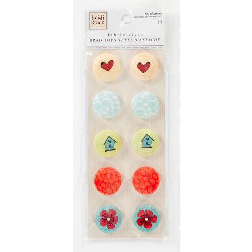 Colorbok - Heidi Grace Designs - Tweet Memories Collection - 3 Dimensional Stickers - Round Fabric Buttons