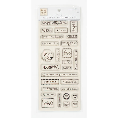 Colorbok - Heidi Grace Designs - Tweet Memories Collection - Epoxy Stickers - Words