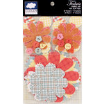 Colorbok - Cloud 9 Design - Fiesta Collection - Die Cut Cardstock Pieces - Printed Fabric Flowers and Buttons