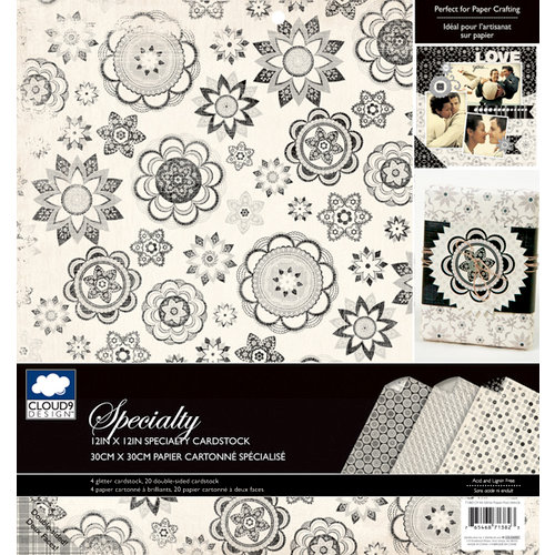 Colorbok - Cloud 9 Design - Nightshade Collection - 12 x 12 Specialty Paper Pad - Glitter