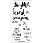 Concord and 9th - Clear Acrylic Stamps - Being Classy