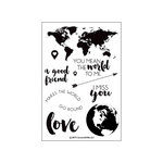 Concord and 9th - Clear Acrylic Stamps - Map Love