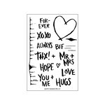 Concord and 9th - Clear Acrylic Stamps - Tree Hugs