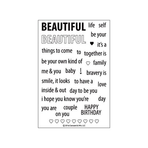 Concord and 9th - Clear Acrylic Stamps - Beautiful Words