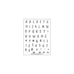 Concord and 9th - Clear Acrylic Stamps - Banner Alpha Bits