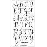 Concord and 9th - Clear Photopolymer Stamps - Sophisticated Script Uppercase