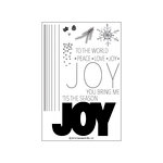 Concord and 9th - Christmas - Clear Acrylic Stamps - JOY