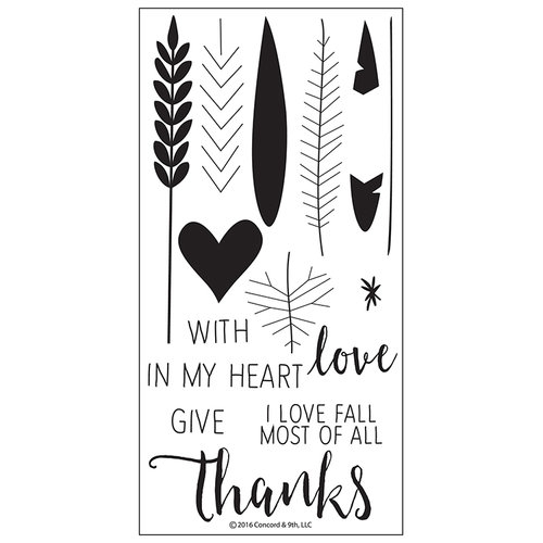 Concord and 9th - Clear Photopolymer Stamps - Give Thanks