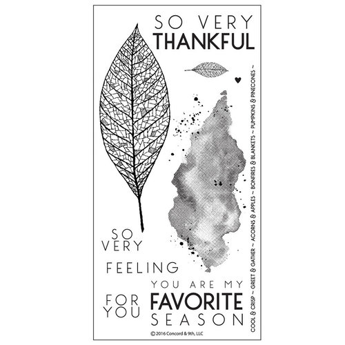 Concord and 9th - Clear Photopolymer Stamps - Lace Leaf