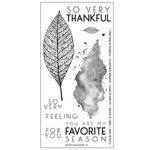 Concord and 9th - Clear Acrylic Stamps - Lace Leaf