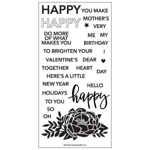 Concord and 9th - Clear Photopolymer Stamps - Happy Words