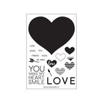 Concord and 9th - Clear Acrylic Stamps - Heart Smile