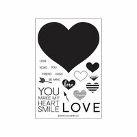 Concord and 9th - Clear Photopolymer Stamps - Heart Smile