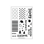 Concord and 9th - Clear Acrylic Stamps - Celebrations