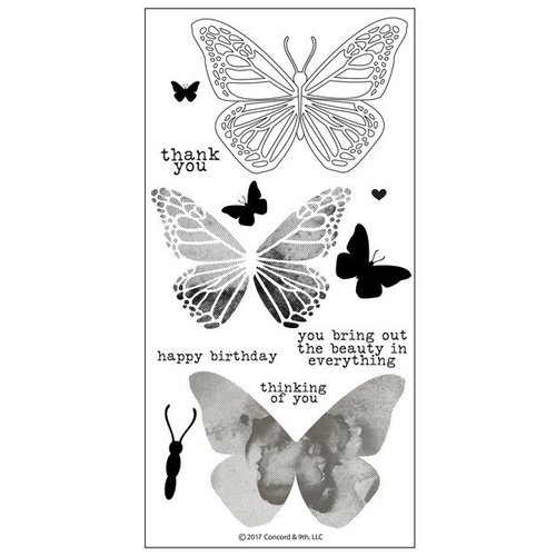 Concord and 9th - Clear Photopolymer Stamps - Butterfly Beauty