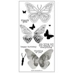 Concord and 9th - Clear Acrylic Stamps - Butterfly Beauty