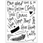 Concord and 9th - Clear Acrylic Stamps - Faith and Love