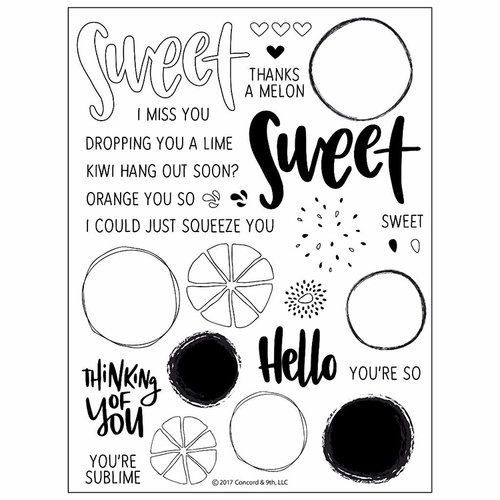 Concord and 9th - Clear Acrylic Stamps - Orange You Sweet
