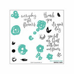 Concord and 9th - Clear Acrylic Stamps - Flower Turnabout